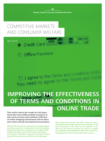 Improving the effectiveness of terms and conditions in online trade