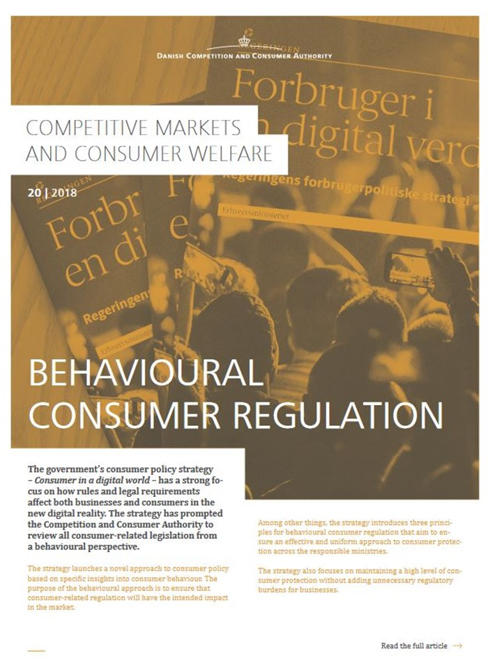 Behavioural consumer regulation
