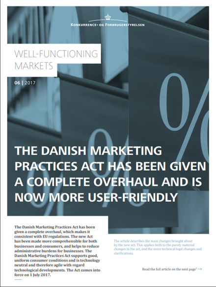 The Danish Marketing Practices Act has been given a complete overhaul and is now more user-friendly