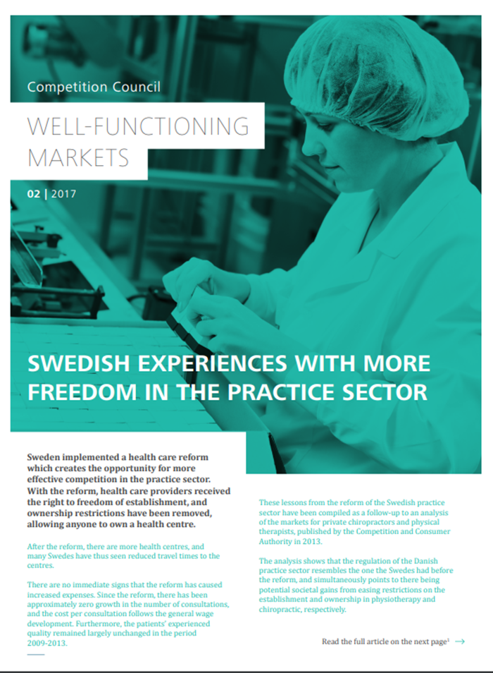 Swedish experiences with more freedom in the practice sector