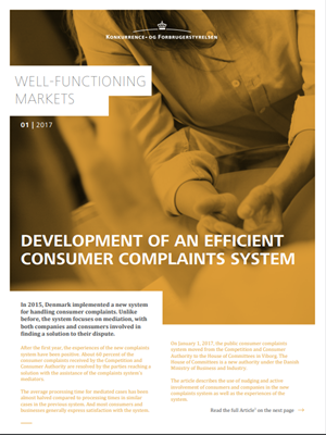 Development of an efficient consumer complaints system