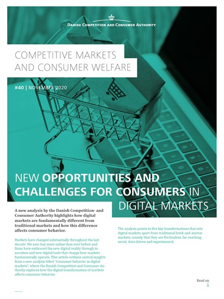 New Opportunties and Challenges for Consumers in Digital Markets